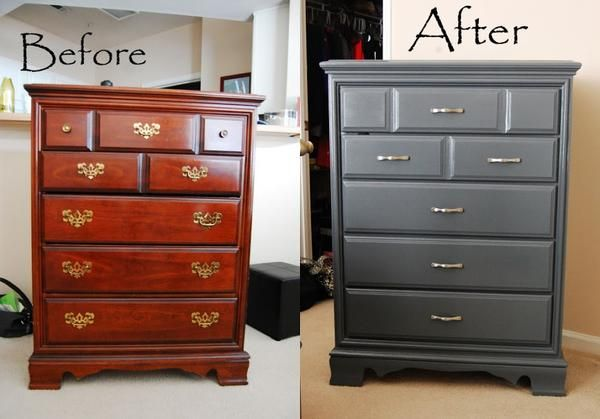 The Process Of Re Painting Old Wooden, Painting Wood Bedroom Furniture Ideas