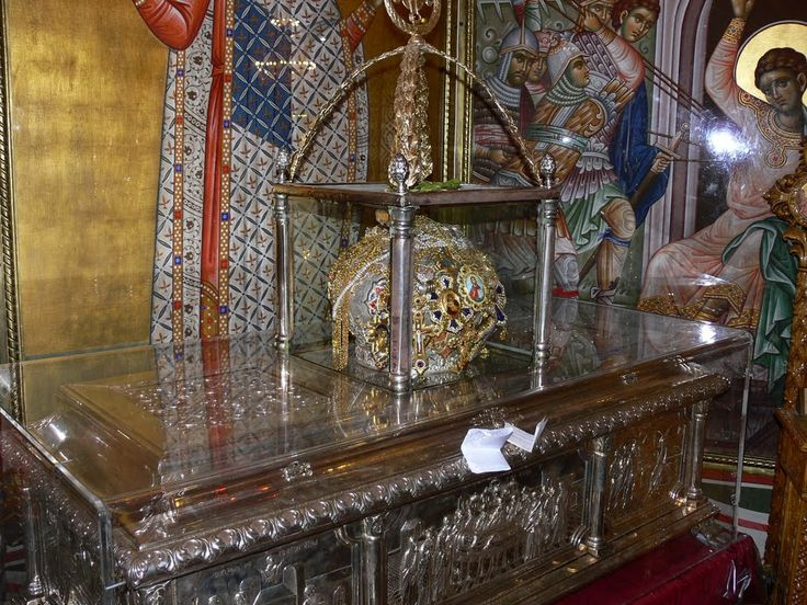 Relics of St. Demetrius, a Military Saint at the Aghios Demetrios Basilica, Thessaloniki: The military saints or warrior saints of the Early Christian Church are prominent in the history of Christianity. The persecution of Christians under Diocletian or other Roman Emperors usually furnished the background for soldier-saint hagiography which has a common theme: a soldier of the Empire who has become a Christian finds that his devotion conflicts with traditional religious practices of the…