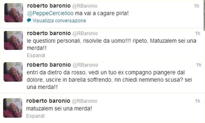 Baronio attacca Matuzalem: «Sei una m...»