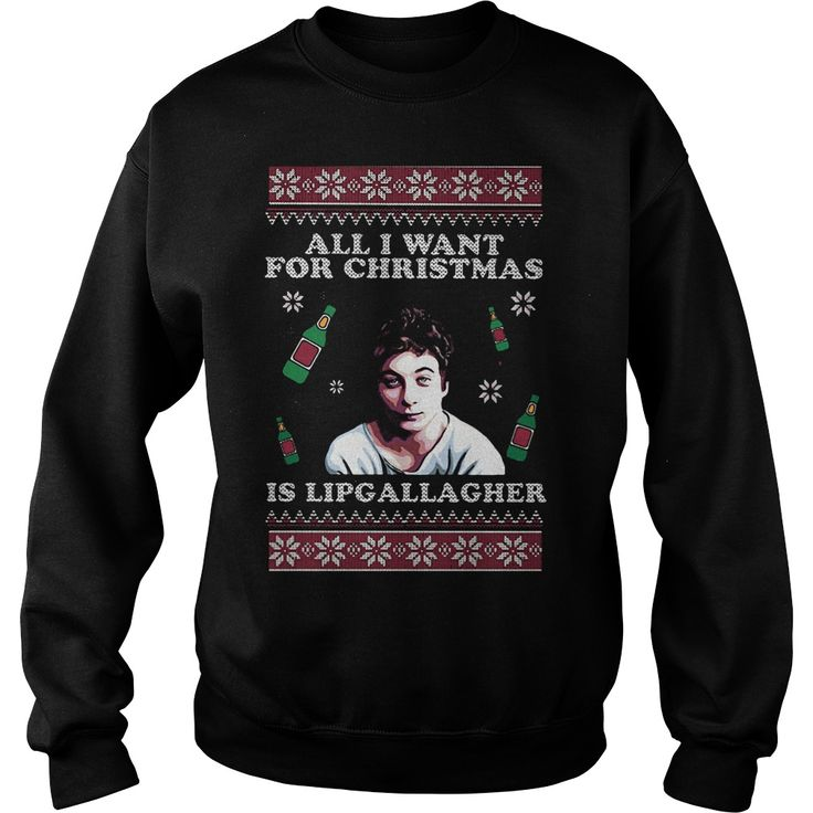 All I want for christmas is lip gallagher ugly christmas sweater