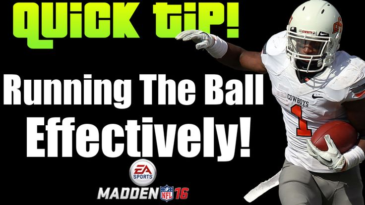 Madden 16 tips for the run game. Understand the run game and utilize the run effectively in Madden 16. Use this Madden 16 tip to elevate your game.