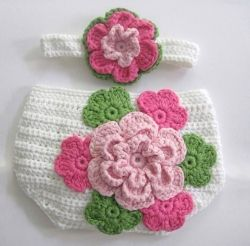 Diaper Cover with Flowers