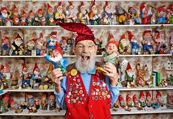 Real-life gnome shows off world's largest gnome collection.....at the rate I'm going, I'll have dude beat in no time. Too bad I'm not a real-life gnome tho.