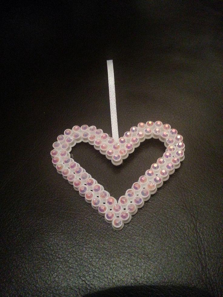 Hama beads with rhinestone  Stine Fagerhaug  Bolleboll Design  http://epla.no/shops/bollaboll/