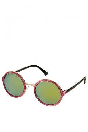 Topshop verspiegelte Sonnenbrille rund