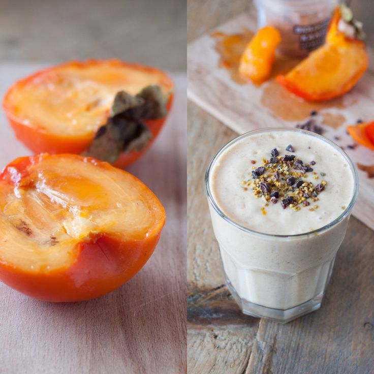 Kaki fruit; tot afgelopen weekend had ik dit nog nooit gegegeten. Wat blijkt? Het is ideaal voor smoothies! Dit simpele recept met kaneel en geitenyoghurt vormt een voedzaam en romig ontbijtje!