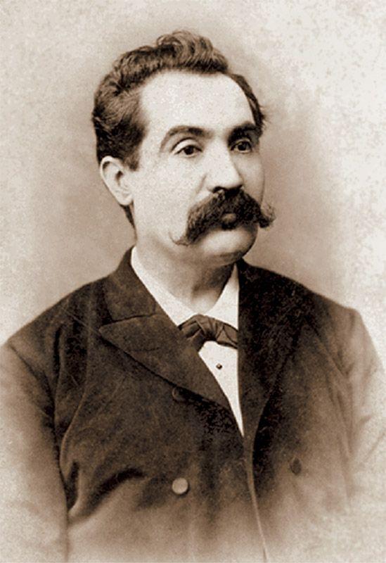 Mihai Eminescu, Botosani, 1887, foto: Jean Bielig.