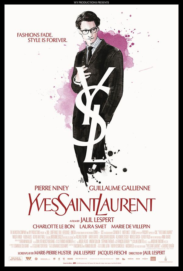 The Yves Saint Laurent Movie Poster B. A. !! MEILLEUR ACTEUR CÉSARS 2015 Pierre Niney                                                                                                                                                      Plus