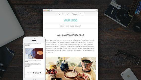 Responsive HTML email Mailchimp Email by KalaAndHansujaStudio