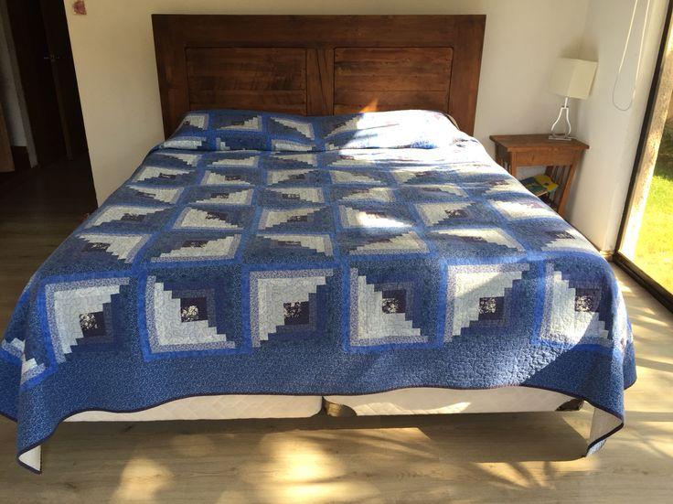 cubrecama en patchwork (270cmx270cm). Más de 1.300 piezas de tela unidas!