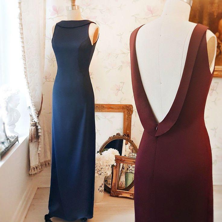 Sadra Burgundy #Boutique1861 - Also in blue - A maxi burgundy dress with a simple open-back proves a good taste ! #promdresses #bridesmaids #buylocal #artigogna