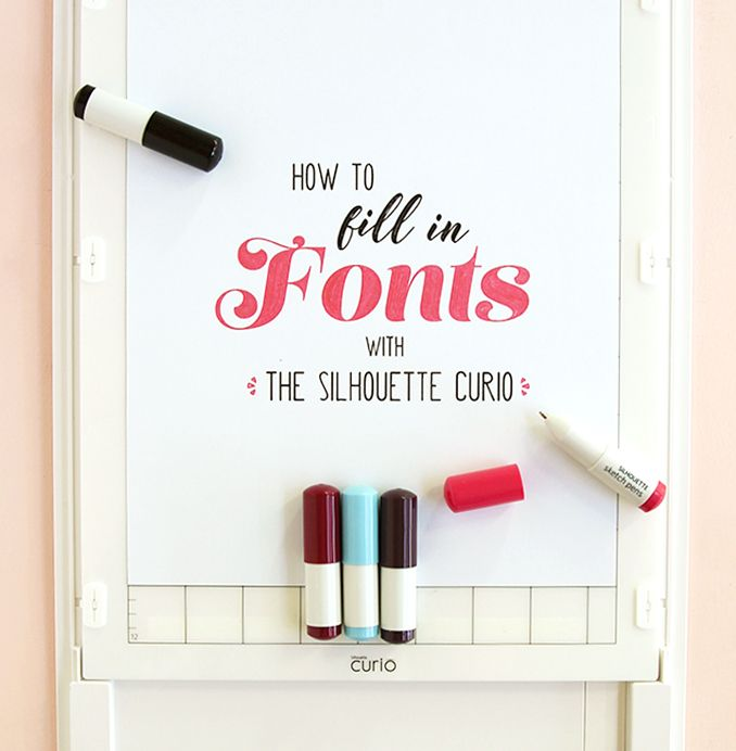 Silhouette Curio Tutorial: Easily Fill in Fonts
