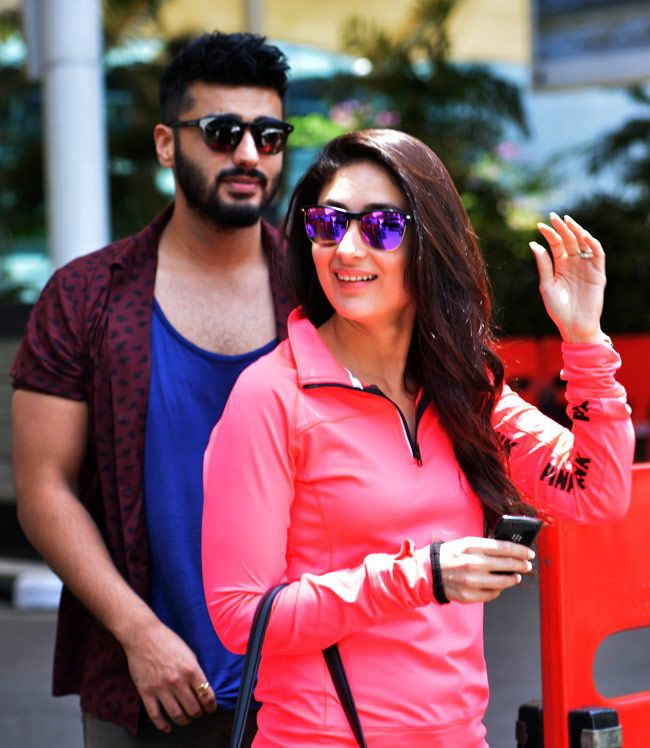 Kareena Kapoor and Arjun Kapoor return to Mumbai after attending India TV Yuva awards.