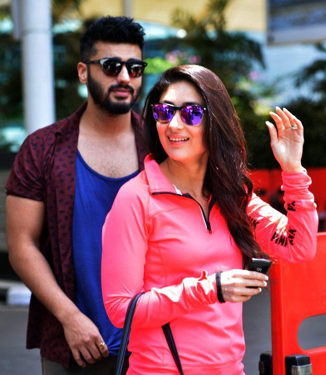 Kareena Kapoor and Arjun Kapoor return to Mumbai after attending India TV Yuva awards.