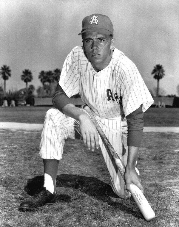 A young Rick Monday in his ASU Baseball uniform