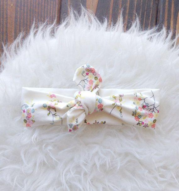 Flower Knot Headband Flower Turban Knot by BlakelyAnnsBoutique