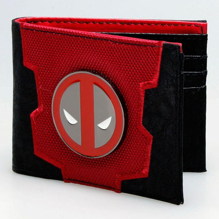 awesome Wallet Deadpool Logo Emblem Marvel Merch Loot  -  The unique faux lather wallet by your favourite fandoms. Size: ~ 85mm x 110mm x 15mm