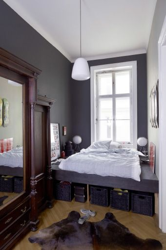Clothes storage tip #9: It's obvious, but... make use of the space under your bed! #IKEAIDEAS