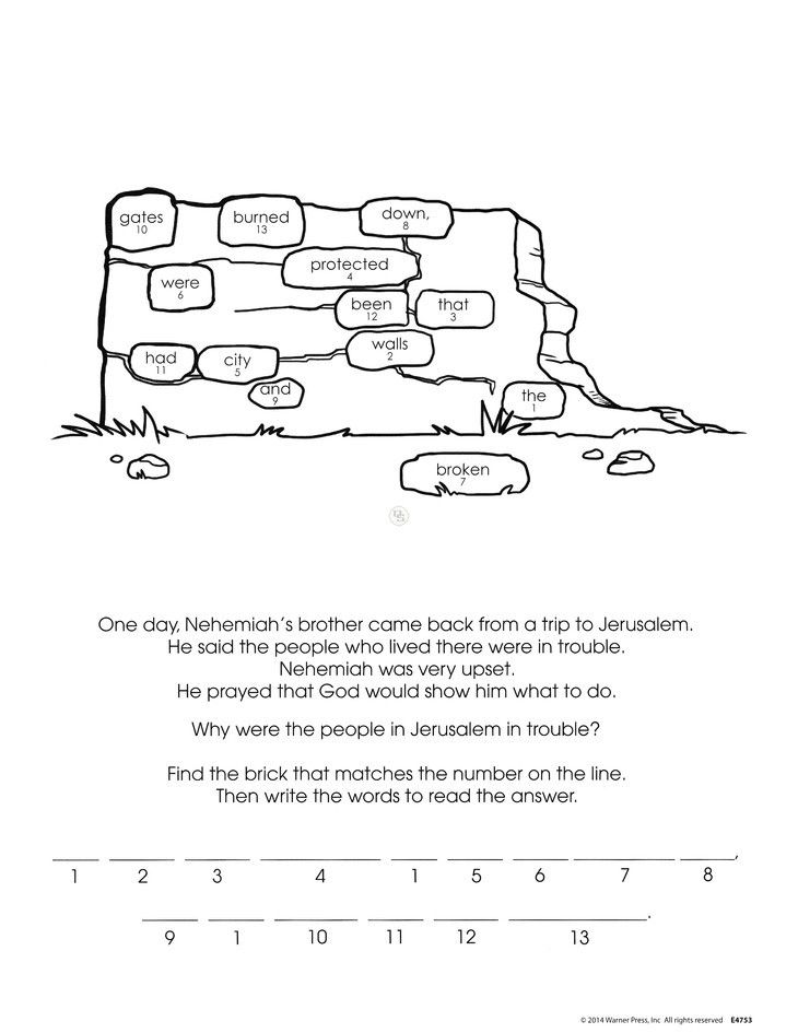 nehemiah bible study for kids coloring pages | nehemiah bulletin board - Google Search | Sunday school ...