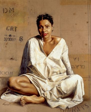 Archibald Prize Winner Evert Ploeg painted this portrait of Deborah Mailman. It captures her beautifully