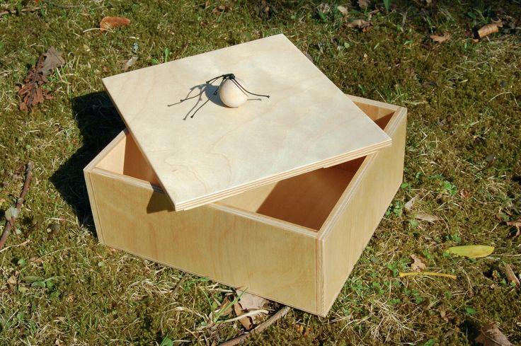 Plywood BOX WITH HANDLE - now available on Etsy https://www.etsy.com/shop/PracowniaSzymanek
