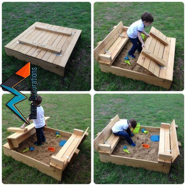 Sandbox Enjoyable! | concepts for sand field & swing set in 2019 | Pinterest | Children backyar…
