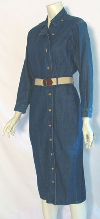 Talbots Denim 80s Jean Dress
