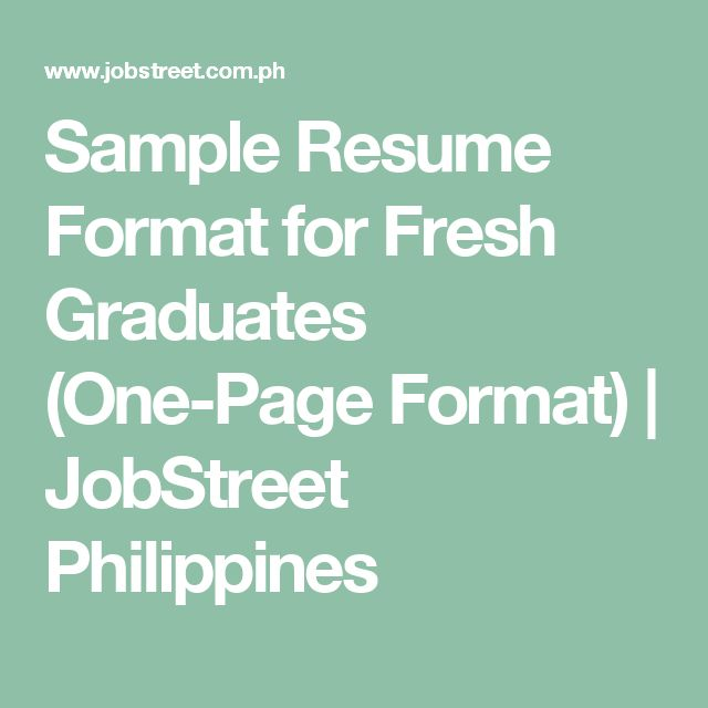 25+ Best Ideas About Sample Resume Format On Pinterest
