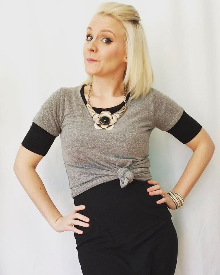 I can't get enough of fun layering. The Lularoe classic tee over top of the Julia dress is perfection