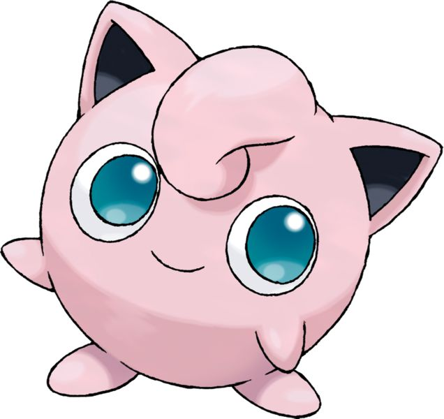Jigglypuff (Japanese: プリン Purin) is a dual-type Normal/Fairy Pokémon, and prior to Generation VI, a pure Normal-type Pokémon.It evolves from Igglybuff when leveled up with high friendship and evolves into Wigglytuff when exposed to a Moon Stone. http://bulbapedia.bulbagarden.net/wiki/Jigglypuff_%28Pok%C3%A9mon%29