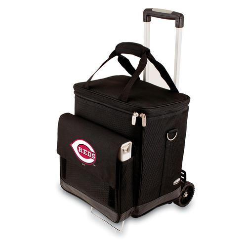 Cincinnati Reds Wine Cellar Portable Cooler with Trolley