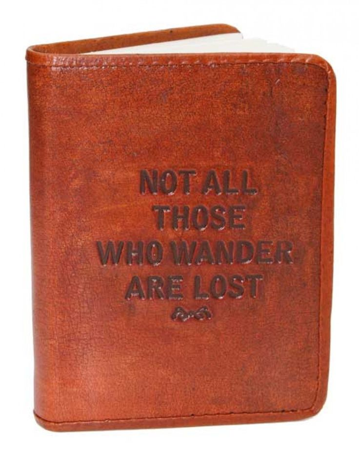 Leather Notebook - Wander