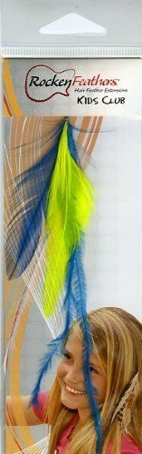 Rocken Feathers Kids Club Natural Hair Extensions Hand Made in the USA -Light Blue and Yellow! by Rocken Feathers. $13.95. Wowzzer!! We are very proud to be an official internet distributor of Rocken Feathers Natural Hair Extensions. Feather Hair Extensions are the hottest fashion trend that is sweeping the country! Many of todays most popular young celebrities are wearing them including Selena Gomez, Kei$ha, Miley Cyrus, Hillary Duff, Jennifer Love Hewitt to name just a few. Th...