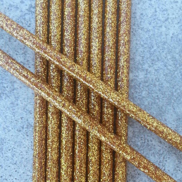 Food grade sealed gold glitter cake pop sticks