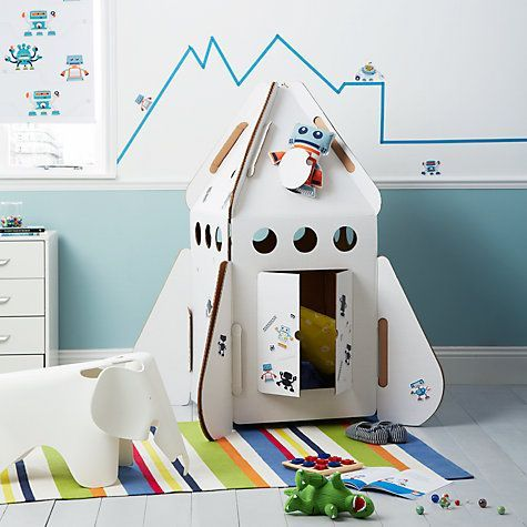 Rocket for kids by Studio Roof  #kids #toys #rocket #design #studioroof #kidsonroof #playful #joyful #handmade #craft #cardboard