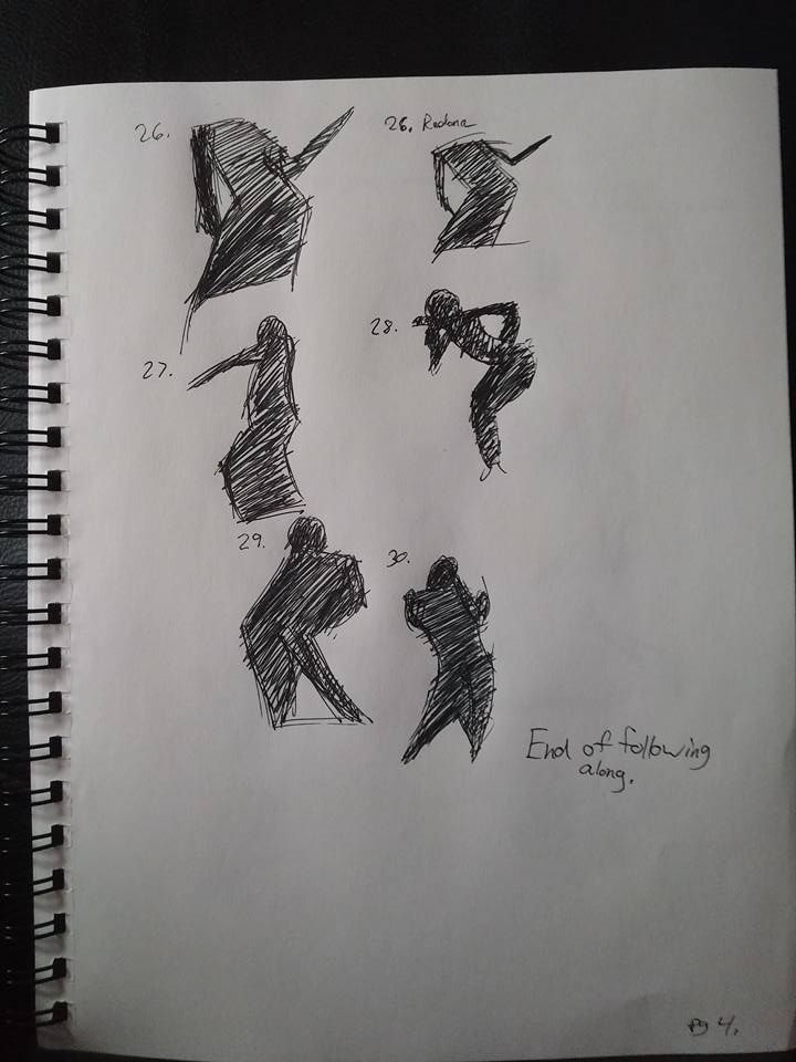 Shape gesture study page 4 of 8.