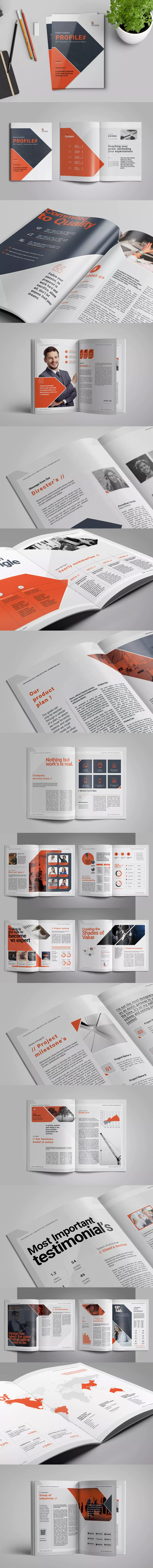 Company Profile Template InDesign INDD A4 and US Letter Size