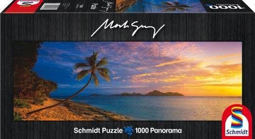 Puzzle SCHMIDT: Puzzle de 1000 piezas Puzzle Isla Mamanuca Fiji playa Mark Gray ( Ref: 0000059288 ) en Puzzlemania.net
