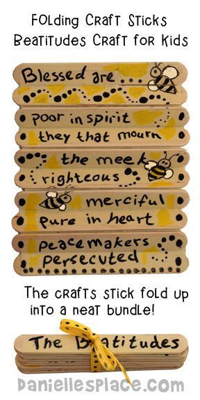 Beatitudes Folding Craft Stick Craft for Sunday School from www.daniellesplace.com: