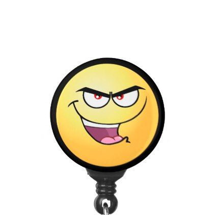 Sinister Emoji Name Badge Holder - image gifts your image here cyo personalize