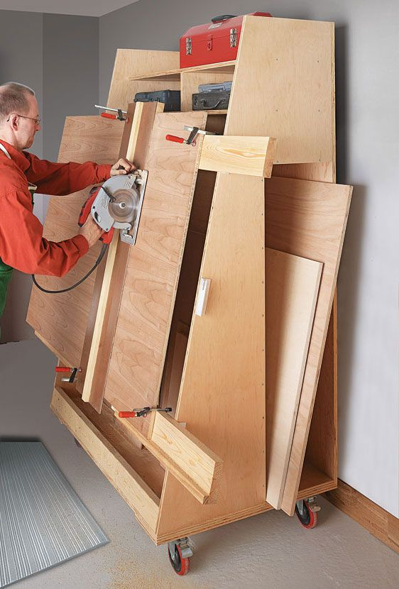 Panel saws make quick work of cutting large sheets of plywood without trying to feed them through a table saw