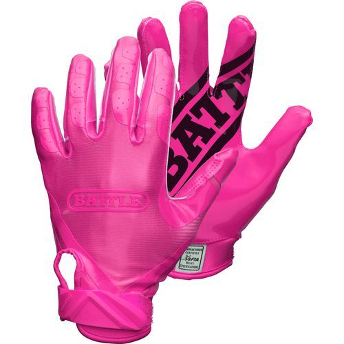 Battle Adults' Ultra-Stick Receiver Football Gloves Pink/Pink - Football Equipment, Football Equipment at Academy Sports