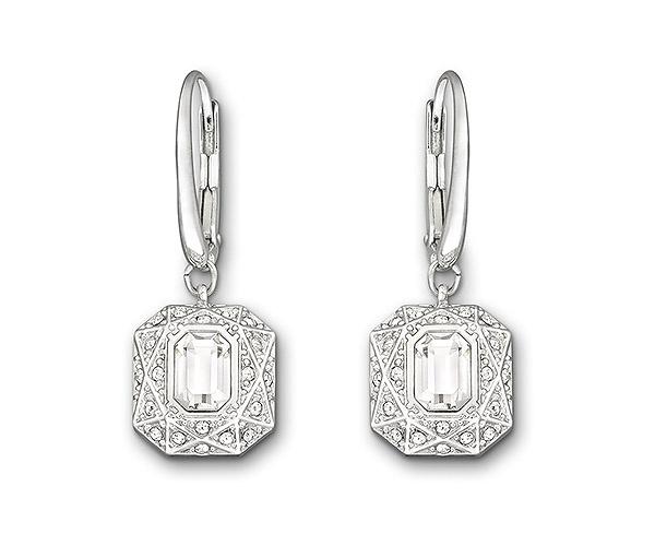 #Swarovski Sophisticated Pierced Earrings #wedding