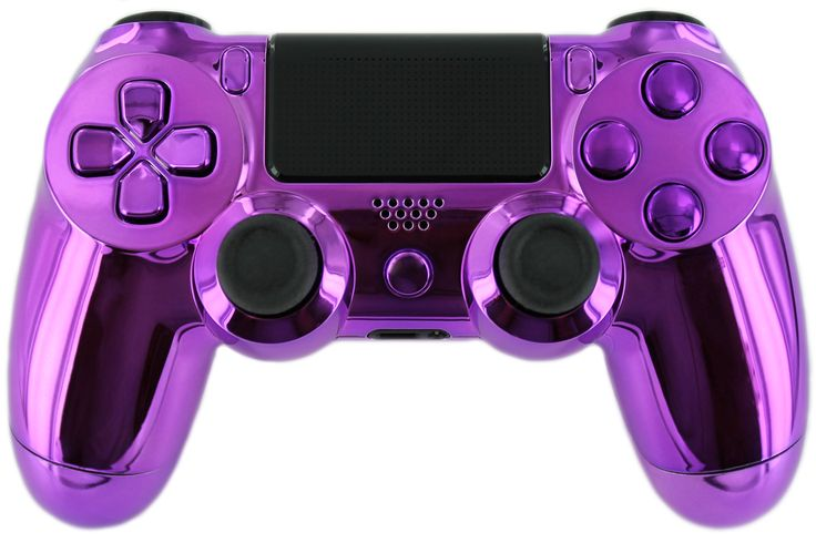 """Gimika """"Chrome Purple"""" PS4 Custom Controller with Purple Chrome Buttons and D-Pad Limited Edition - Playstation 4 Controllers"""