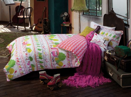 Kids Gypsy Traveller Quilt Set from KAS, available at Forty Winks.