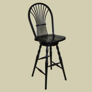 Heritage colonial wheat sheaf bow back windsor swivel counter stool stools mennonite - Windsor back counter stools ...