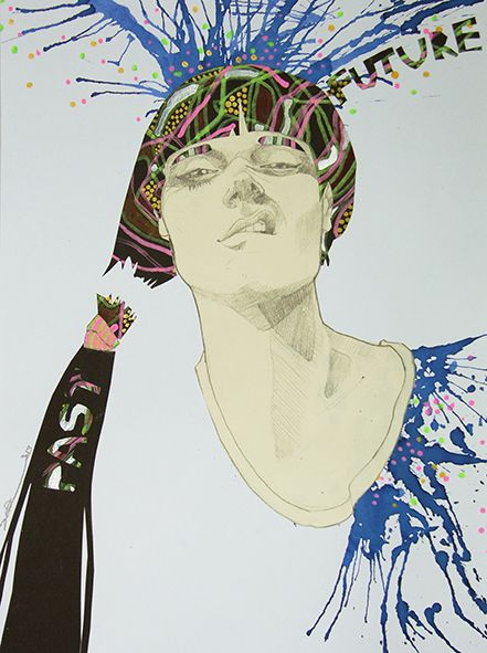 Fashion illustration by hand: Vilma Riitijoki
