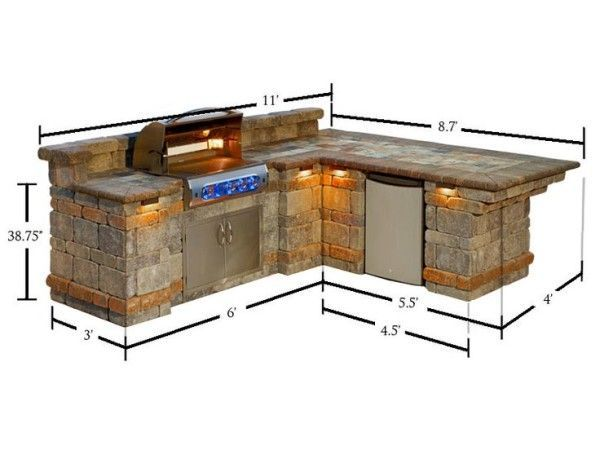 Outdoor Kitchen Grill Dimensions