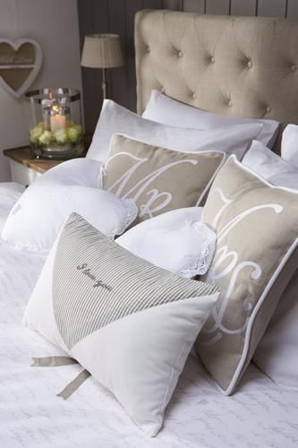 Mr and Mrs Throw Pillows