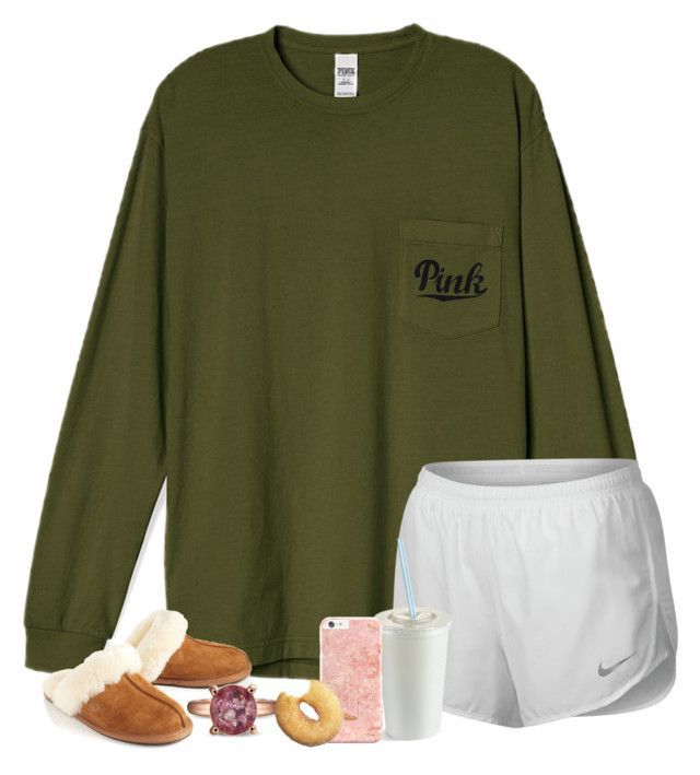 """Legit still in my pjs."" by preppypetunia ❤ liked on Polyvore featuring NIKE and UGG Australia"